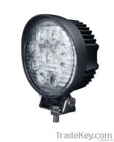27W 4x4 LED Working Light Flood Beam / Pencil Beam off Road Lighting