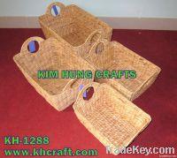 Water Hyacinth Basket Storage