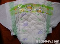 Baby diaper with leak guard BK-4