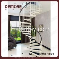 design spiral stair for home/round wood spiral staircase