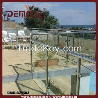 top loft tempered glass balcony railing design