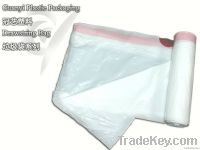 Kitchen Trash Bags White On Roll With Drawstring Handle