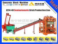 Semi-automatic concrete hollow block making machine