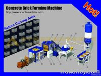 Automatic hydraulic concrete brick making machine
