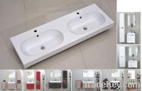 Resin white surface stone basin