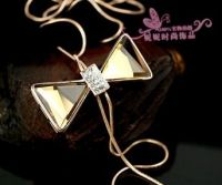 Jewelry fashion crystal sweater necklace