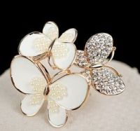 camellia butterfly brooch