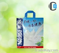 Printed gift plastic bag for shopping
