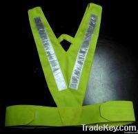 Reflective safety neck-v vest