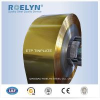 Gold lacquering Tinplate steel strips coils