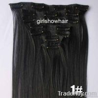 7pcs clip in synthetic hair, synthetic hair extensions/weft/pieces/wea