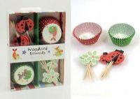 24PCScup cake+24PCS PICKSl/Color box +colorful cover