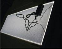 Full custom edge-lit flat led light panel with L shape aluminium profile for back lighting