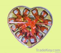 Chocolate package box heart shape blister box