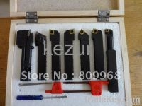 16mm ISO cnc lathe tool holder 7pcs per set with carbide inserts