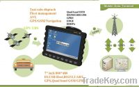"""Programmable 7"""" inch GPS/GSM/GPRS, Vehicle GPS, taxi cabs dispatch"""