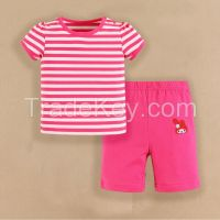 2015 baby clothes 100% cotton baby suits summer short sleeve