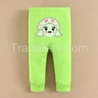 2015 baby wear 100% cotton cartoon baby animal PP pants manufacture