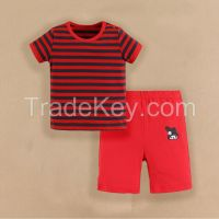 cutetime 2015 baby clothes 100% cotton baby girl suits summer short sleeve