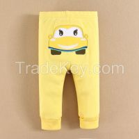 2015 baby clothing 100% cotton cartoon baby PP pants factory