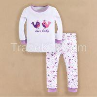 baby wear 100% cotton pajamas sleepwear girl