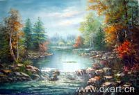 LandScape (100% handmade oil painting on canvas)