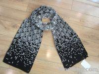 jacquard knitting scarf