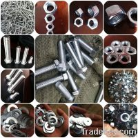 M.S HEX NUTS AND BOLTS ZINC M6 M8 M10 -M36 DIN934 DIN933 DIN558 DIN555