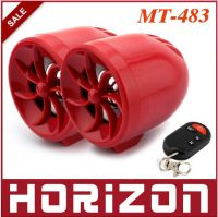 MT-483 12V  Waterproof Motorcycle Alarm MP3 Player FM USB SD Speaker All in One