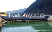 Water inflatable rubber dam