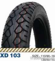 Tubeless tire for motorbike