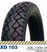 Tubeless tire for motorbike