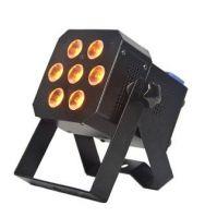 RGBW & RGBA 4-in-1 8W 7pcs LED Flat Par Light, 7pcs 8W LED Par light,stage light, Stage lighting system,