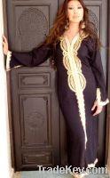 Black Moroccan Caftan Dress- Lella Style