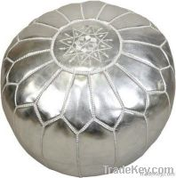 Moroccan Leather Pouffes - Ottoman Foot Stool