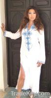 Moroccan White Caftan- Bedouin Syle
