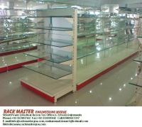 Cosmetic Rack, Crockery Rack, Glass Shelve Rack, Display Rack, Super Store rack, Warehouse Rack