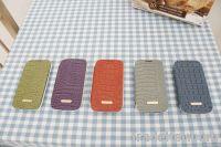 crocodile cow leather flip phone case fashionable insert card