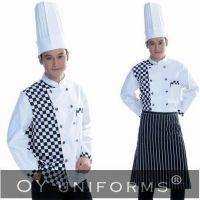 100% Cotton Chef Uniforms with Chef Coats + Pants + Aprons