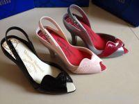 Women Jelly Heels Pretty Angel Wings Plastic Shoes Open Toe