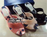 Women Jelly Heels Sandle Plastic Shoes