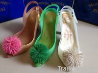 Women Jelly Heels Ball Plastic Shoes Open toe