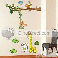 Kids Cute Rabbit Giraffe Monkey Home Decor Wall Sticker  paper