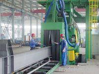 Q69 shot blasting machine for steel profiles
