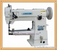 Cylindrical bed compound feed lockstitcher