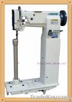 Super high post bed compound feed lockstitch sewing machine
