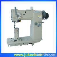 Post-bed compound feed lockstitch sewing machine
