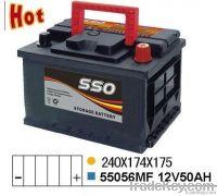55056MF 12v 50ah maintenance free auto battery