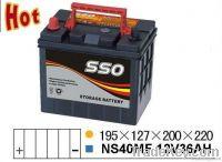 NS40MF 12v 36ah maintenance free car batttery