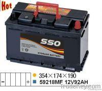 59218MF 12v 92ah automotive starting battery